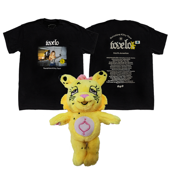 Zebra Black 2020 Tour Tee and Kitty Plush Bundle