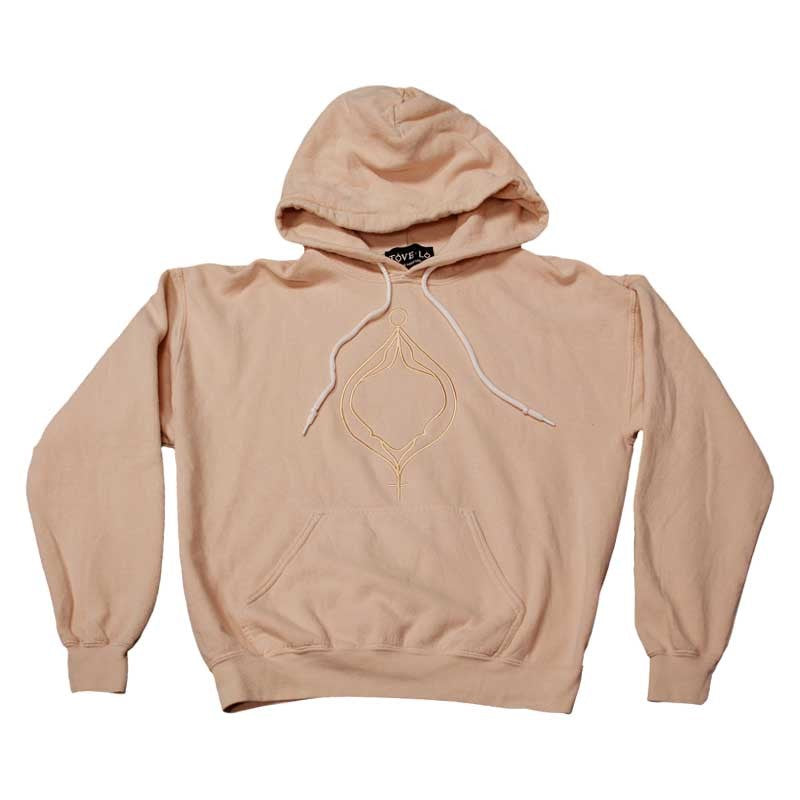 5f9208473350 50 50 poly-cotton nude washed out pullover hoodie sweatshirt with  drawstrings and a kangaroo pocket
