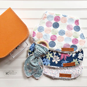 Baby Burp Cloth and Teether Gift Set