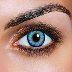 Dual Colour Sky Blue Contact Lenses (Pair)