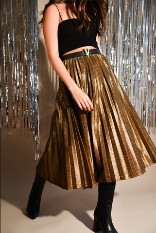 Long Gold Plated Skirt
