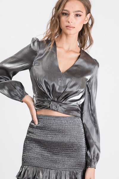 Dressy Top Charcoal