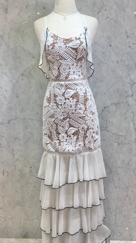 Flowy Lace Dress White