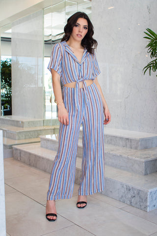 Multicolor Stripes Jumpsuit
