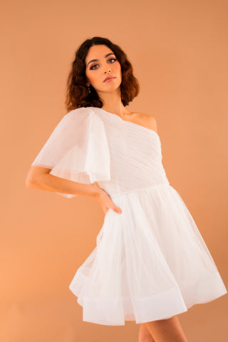 Mesh One Shoulder Tutu