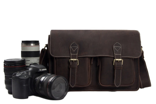 Vintage Brown DSLR Camera Bag - The Raw Professional