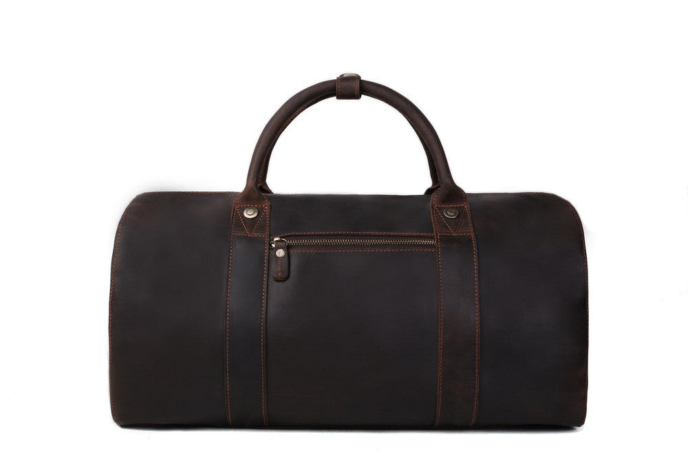 Leather Mens Duffle Bag - The Raw Professional