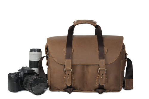 Vintage Leather Camera Bag - The Raw Professional