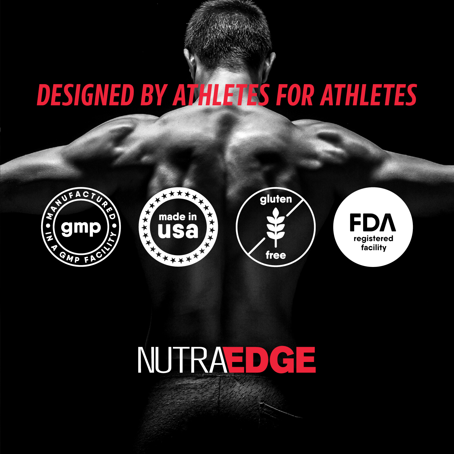 EDGEBUILD Clinically Proven Muscle Building Ingredients, NutraEdge 526G Post Workout Formula, Increases Strength and Power, Enhances Lean Muscle Growth, Maximizes Muscle Recovery, Fruit Punch Flavor.