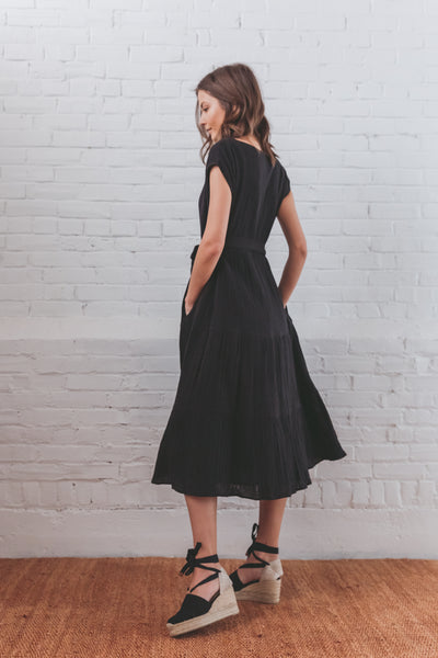 Janis Tiered Dress - Black