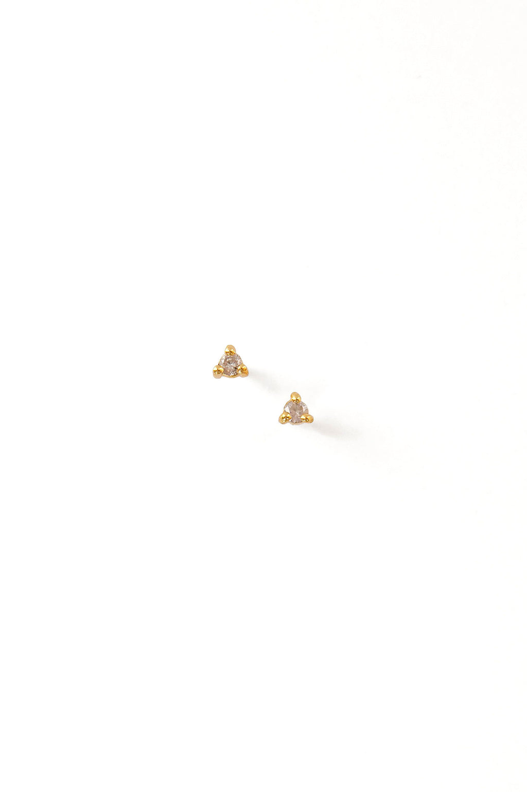 Diamond Solitaire Stud Earrings