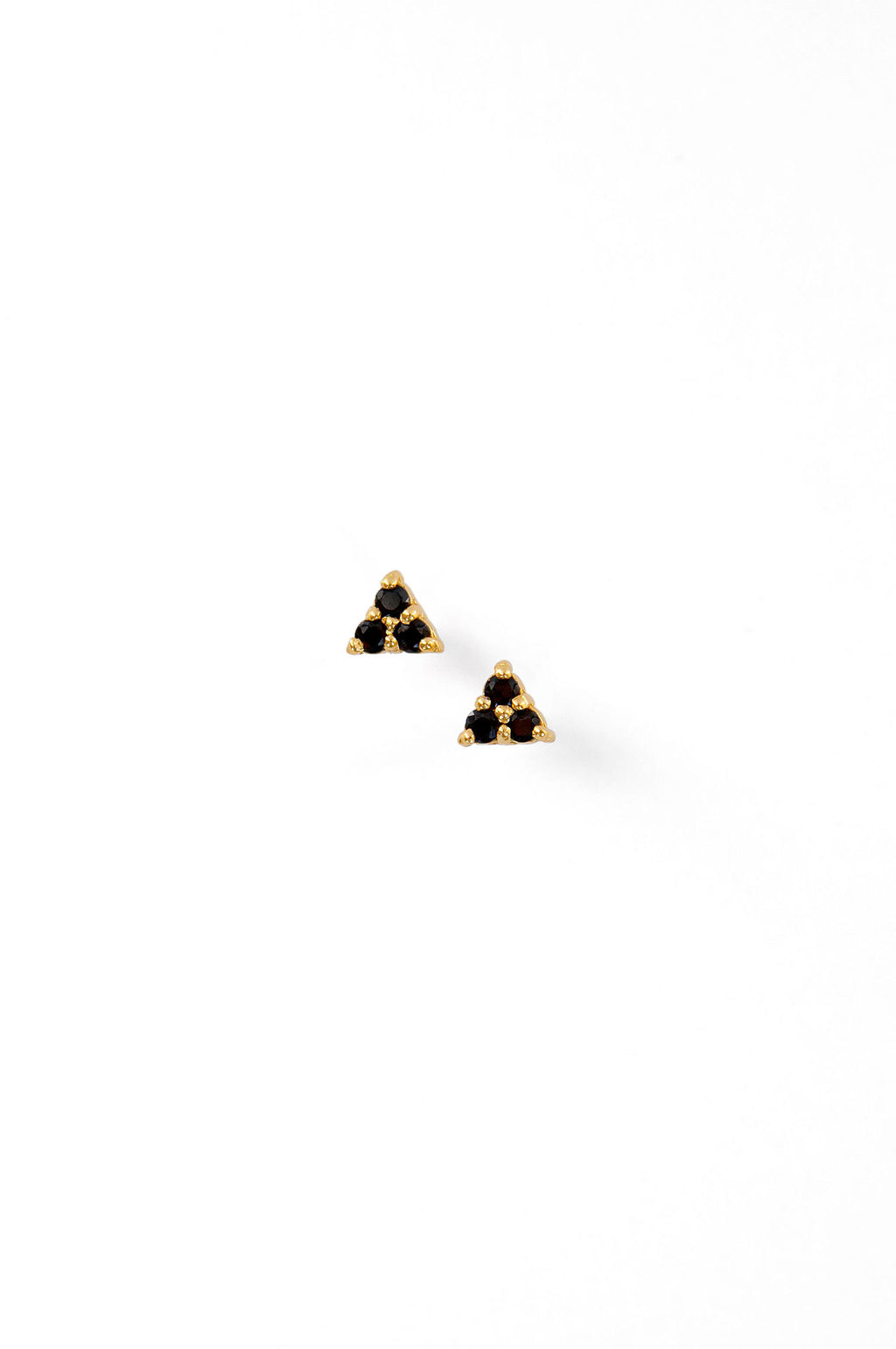 Ebony Triangle Stud Earrings