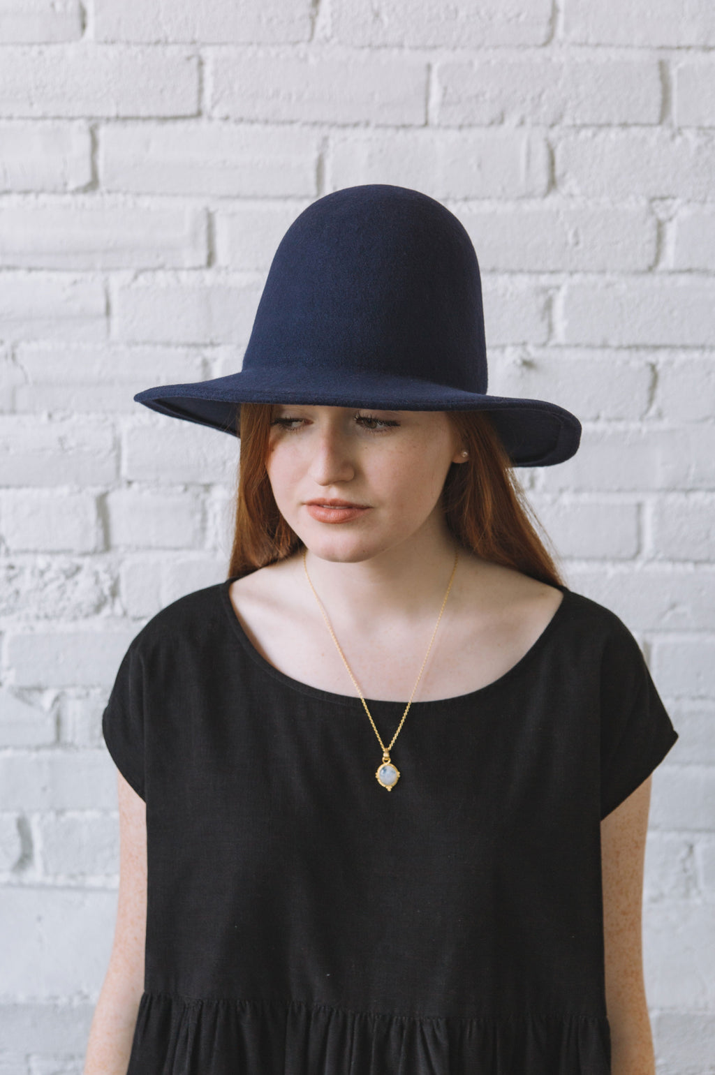 Brookes Boswell Benning Hat in Navy Wool
