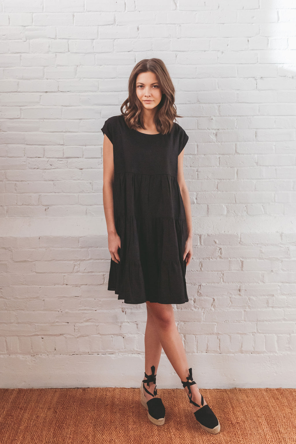 Mila Tiered Dress - Black