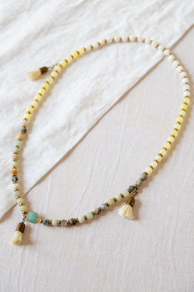 Jade and Amazonite Bead Necklace
