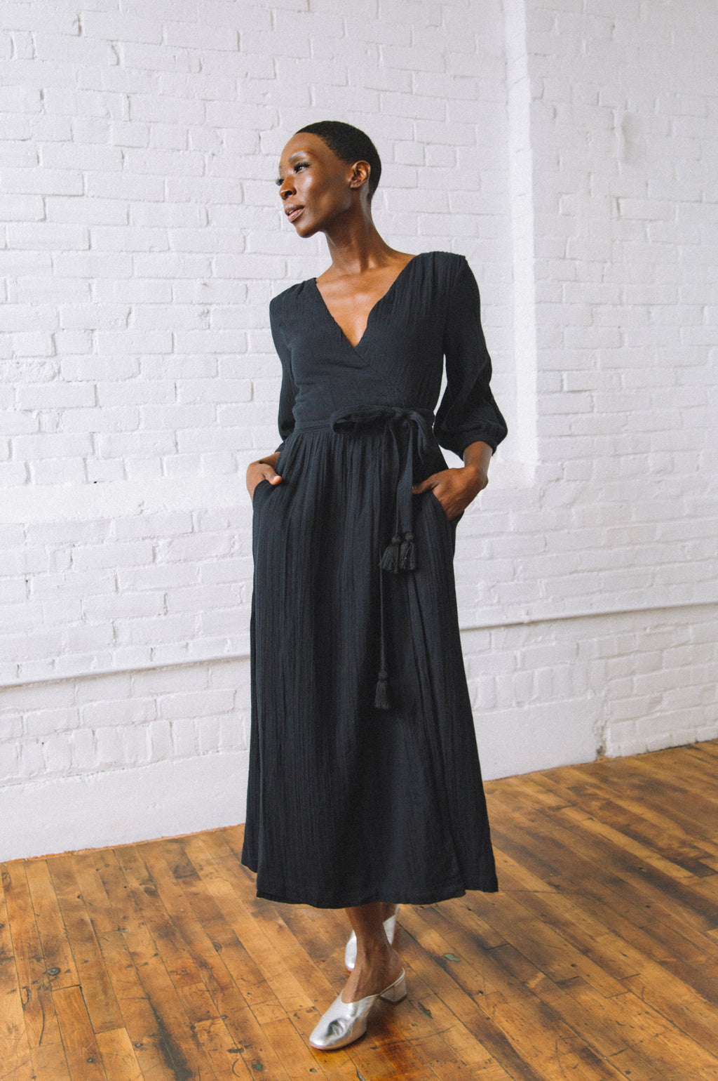 Louisa Gauze Wrap Dress