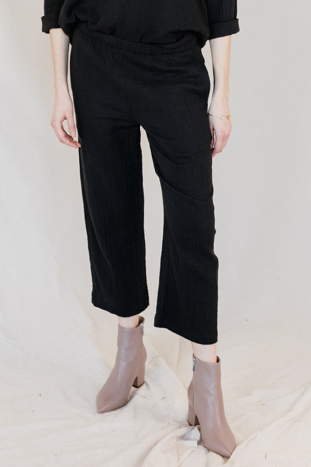 Autumn Cropped Gauze Pant