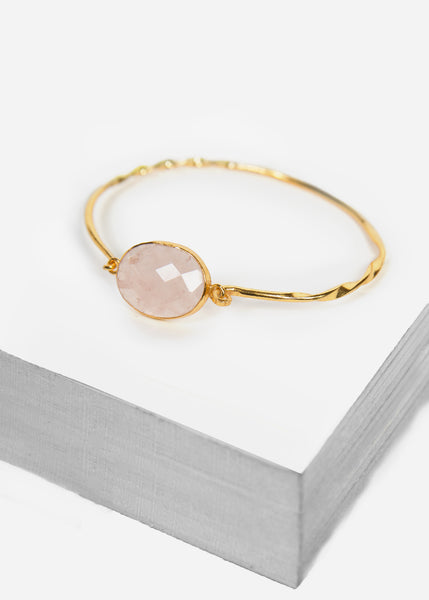 Rose Quartz Oval Bracelet