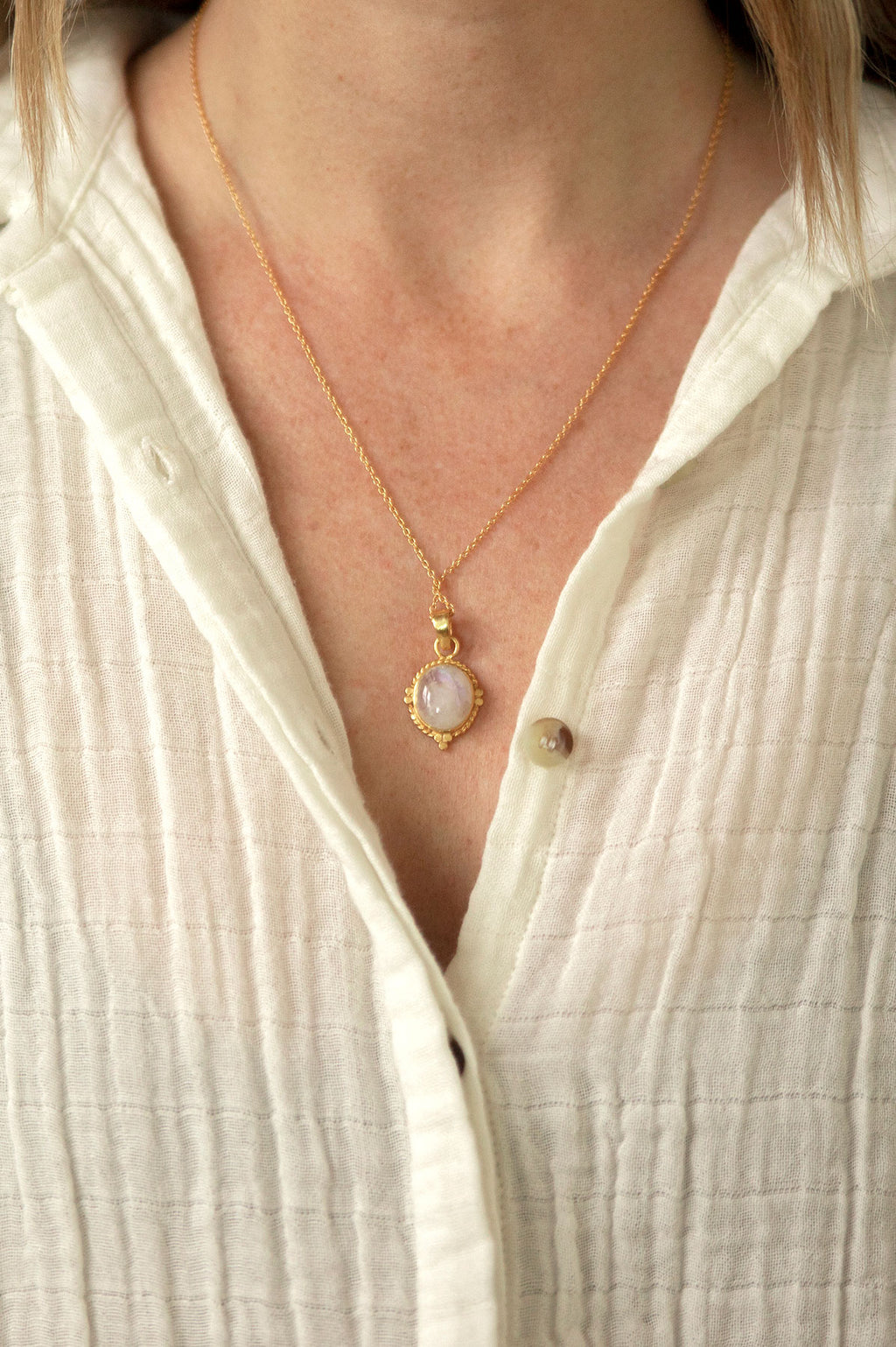 Pendant Moonstone Necklace