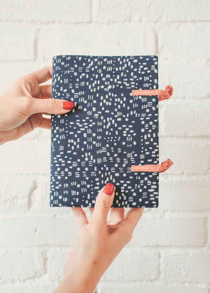 Indigo Dots  Fabric Journal