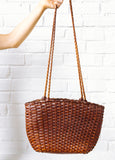 Vintage Woven Shoulder Purse