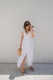 Clementine Wrap Dress - White