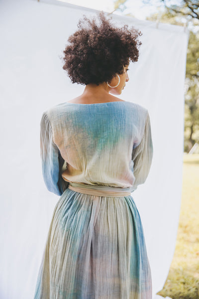 Thea Wrap Dress - Rainbow Tie Dye