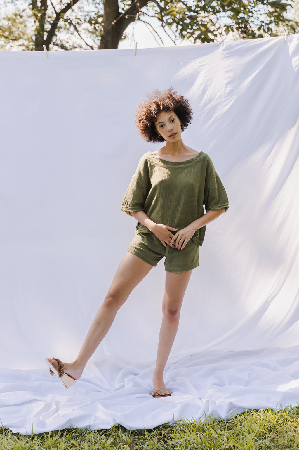 Edie Shorts - Olive