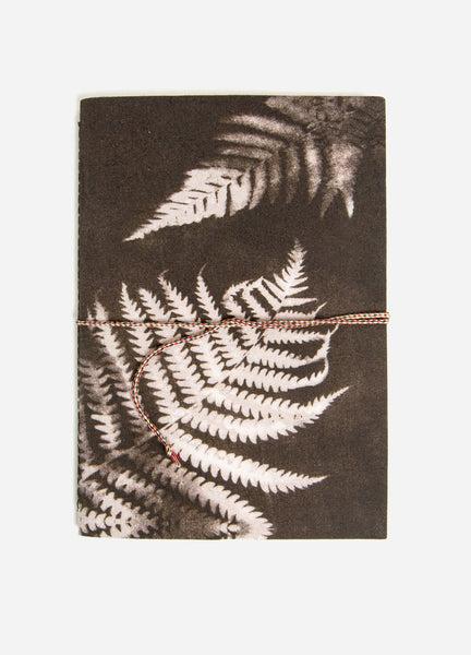 Charcoal Ferns Medium Cotton Notebook