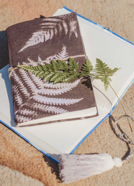 Charcoal Ferns Cyanotype Small Cotton Journal