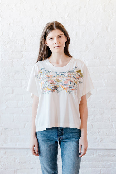 VOLOSHIN FRIDA EMBROIDERED TEE 1