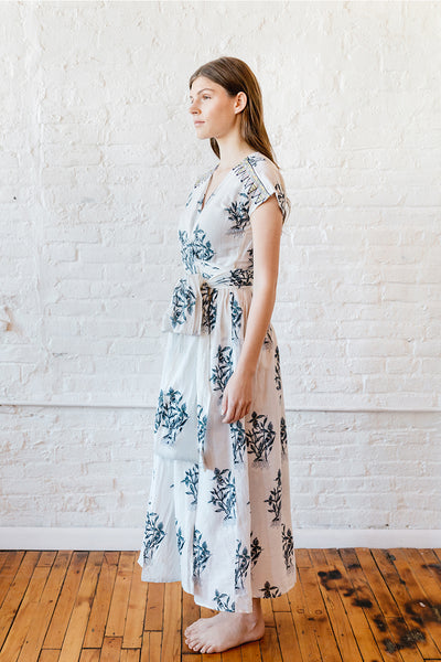 MAJA WRAP DRESS ORCHID PRINT SIDE