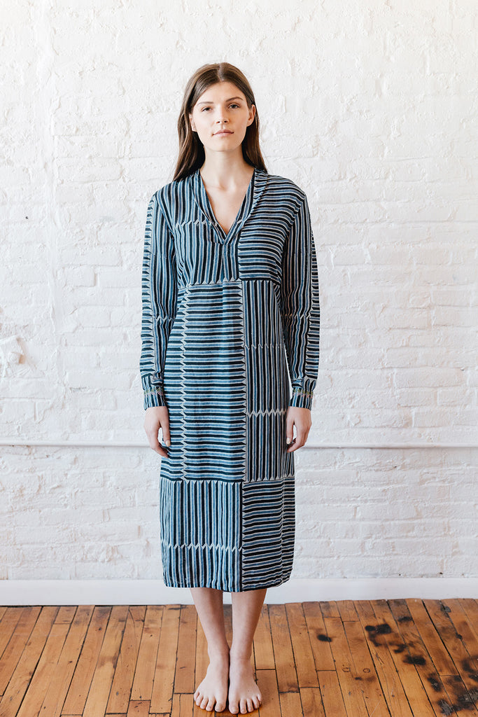 VOLOSHIN NOVA SHIRTDRESS DENIM STRIPE 1