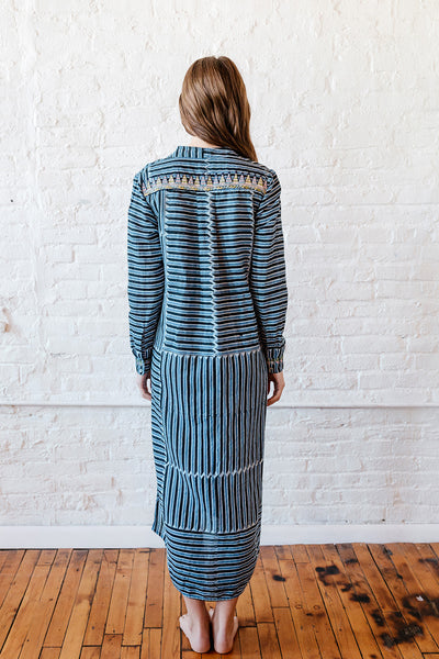 VOLOSHIN NOVA SHIRTDRESS DENIM STRIPE 3
