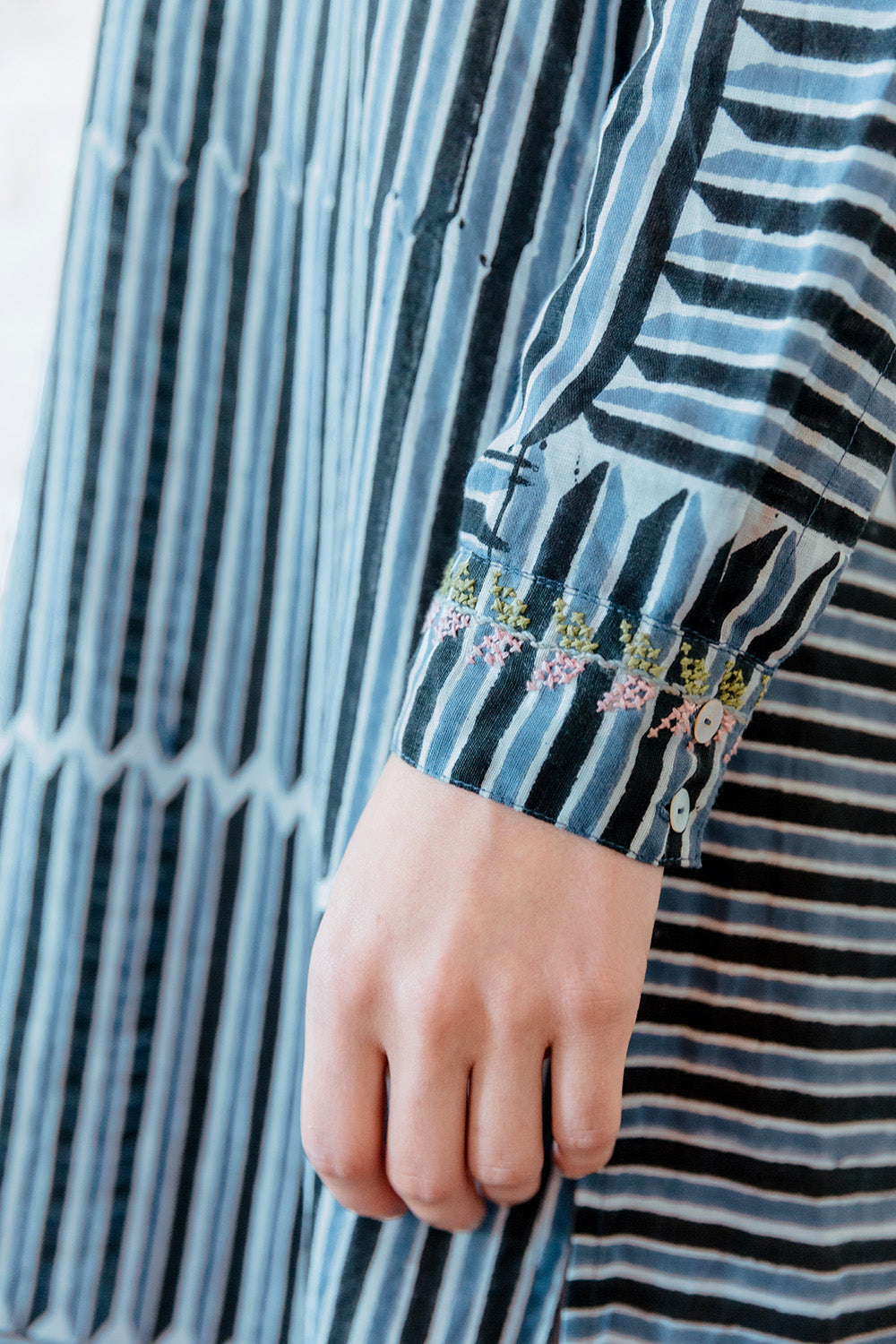 VOLOSHIN NOVA SHIRTDRESS DENIM STRIPE 5