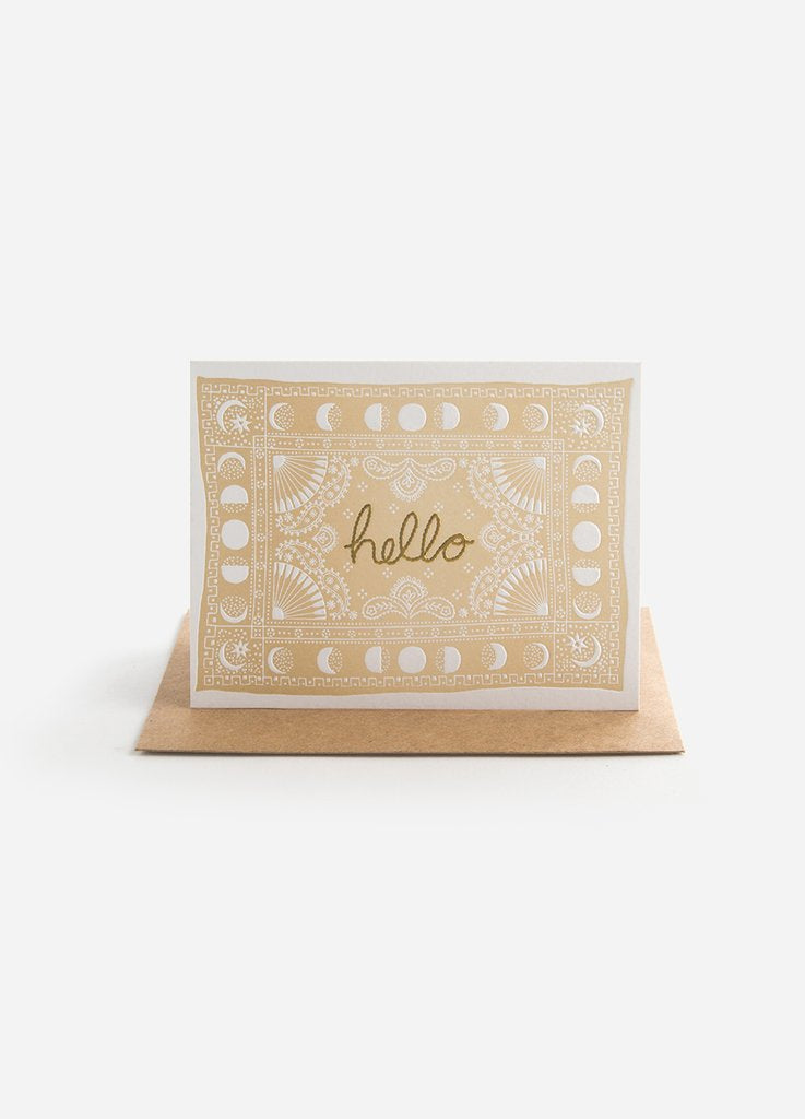 Hello Bandana Greeting Card