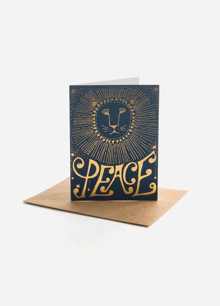 Peace Lion Greeting Card