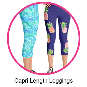 womens designer leggings capri length exclusive designs by beth picard