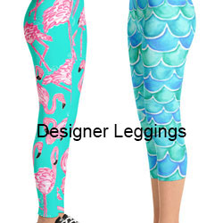 designer capri and full length leggings from original art by beth picard