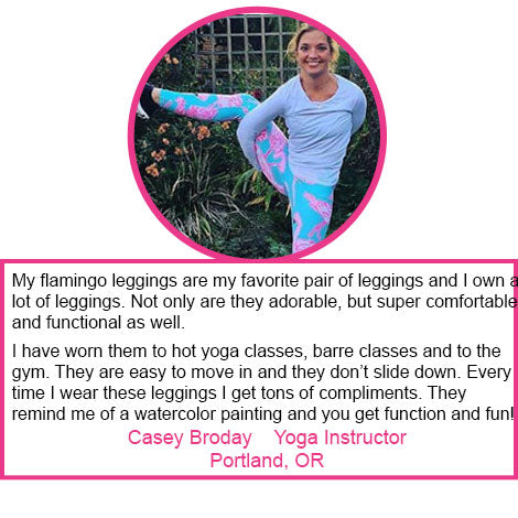 yoga teacher leggings