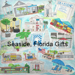 seaside florida leggings, pillows and gifts