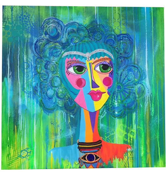 Serena the Seer contemporary art mixed media
