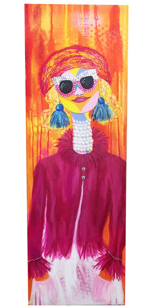 silly tilly mixed media painting