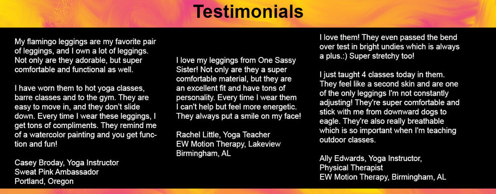 testimonials for leggings