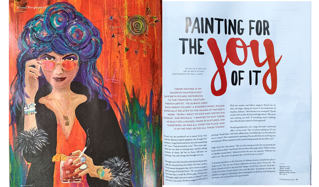 vie magazine painting for the joy of it