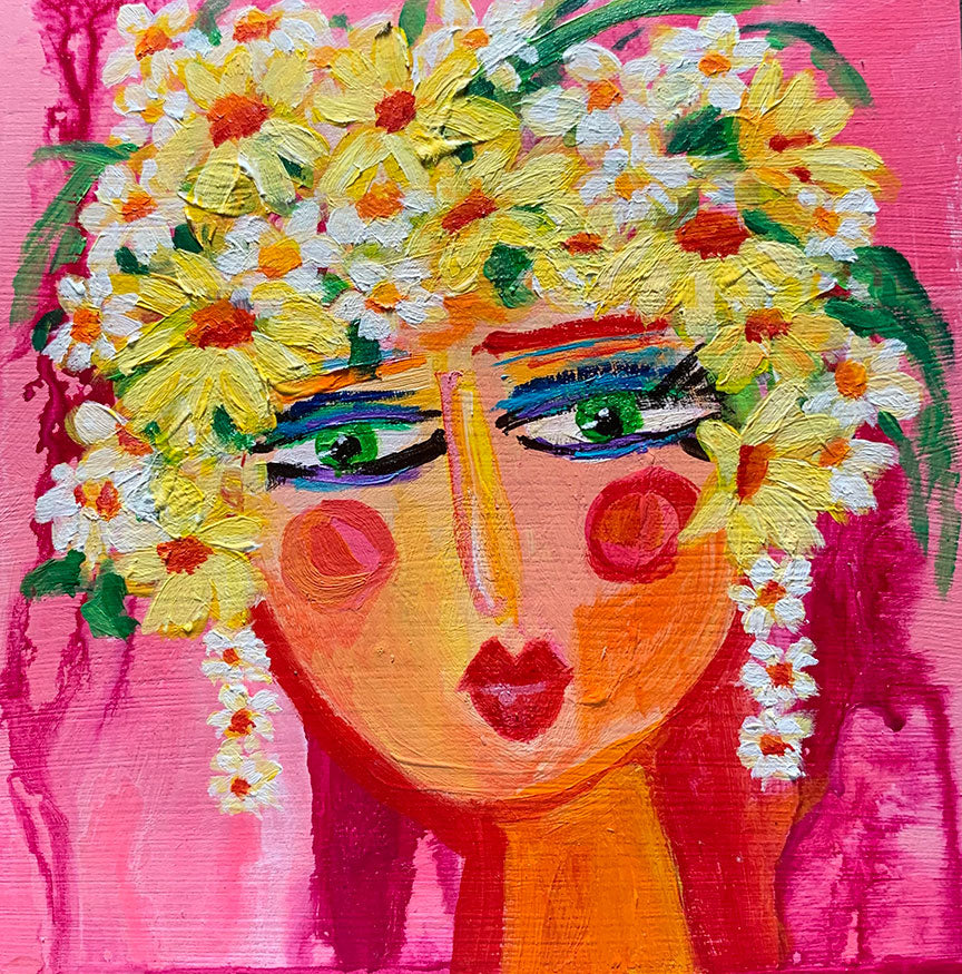 "Flower Girls - Blossom  6"" x 6"""