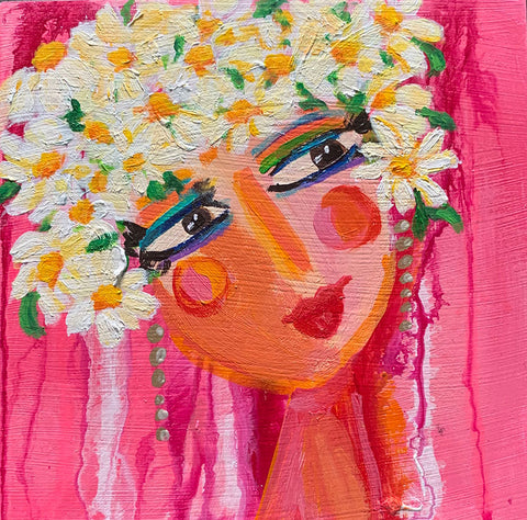 "Flower Girls - Lily 6"" x 6"""