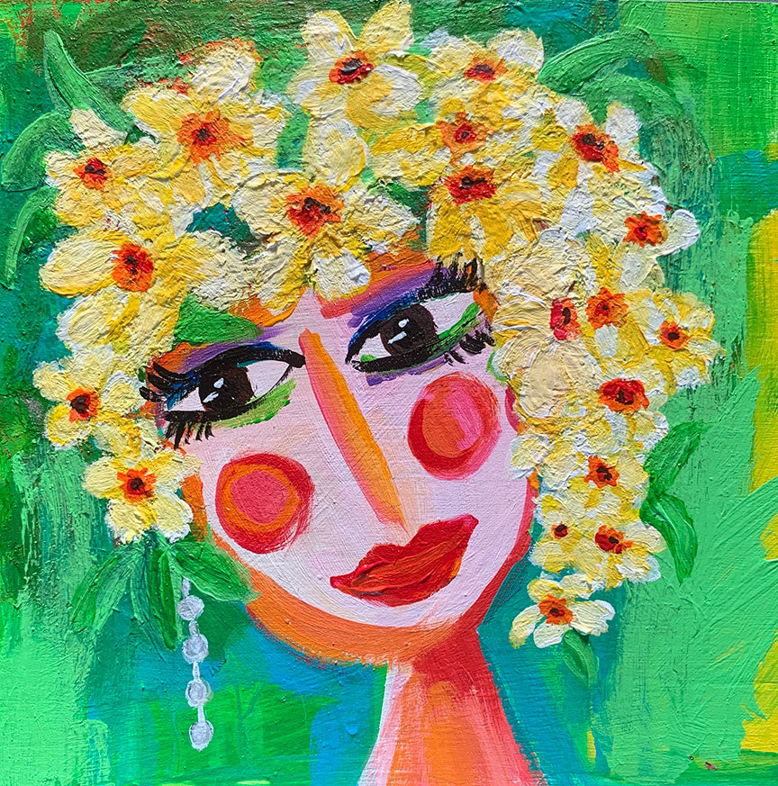 "Flower Girls - Jasmine 6"" x 6"""