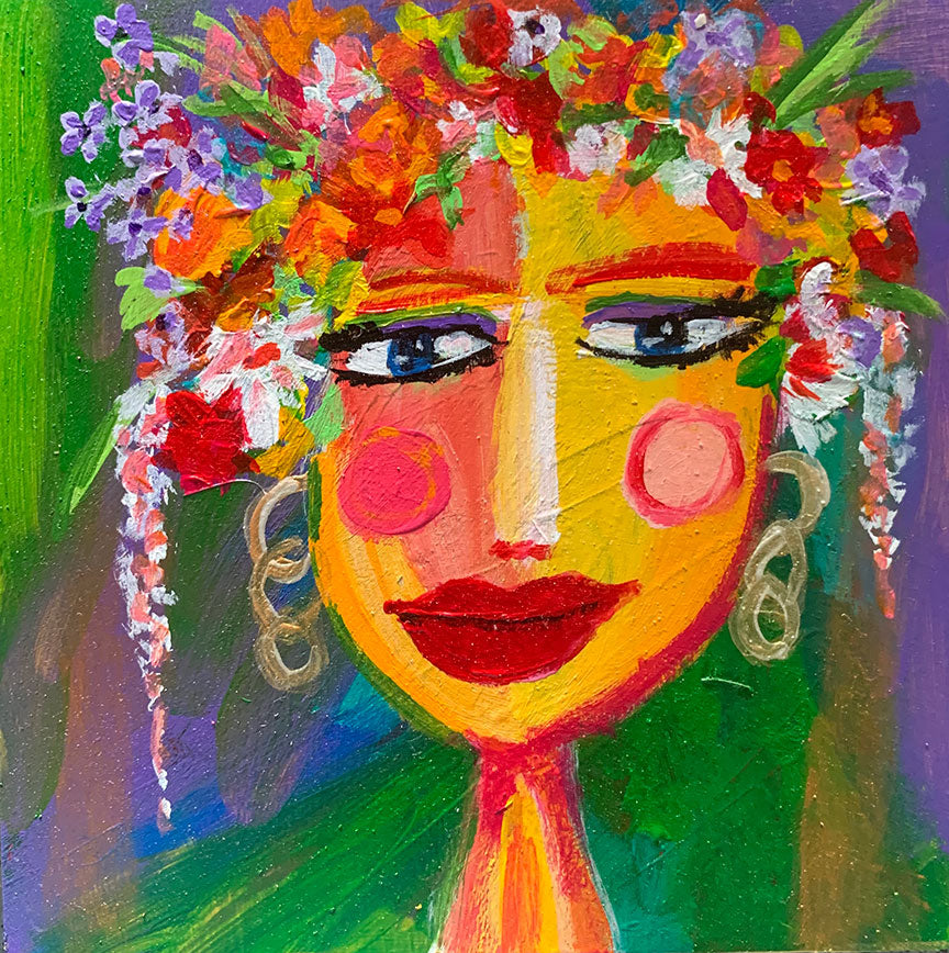 "Flower Girls - Marigold 6"" x 6"""