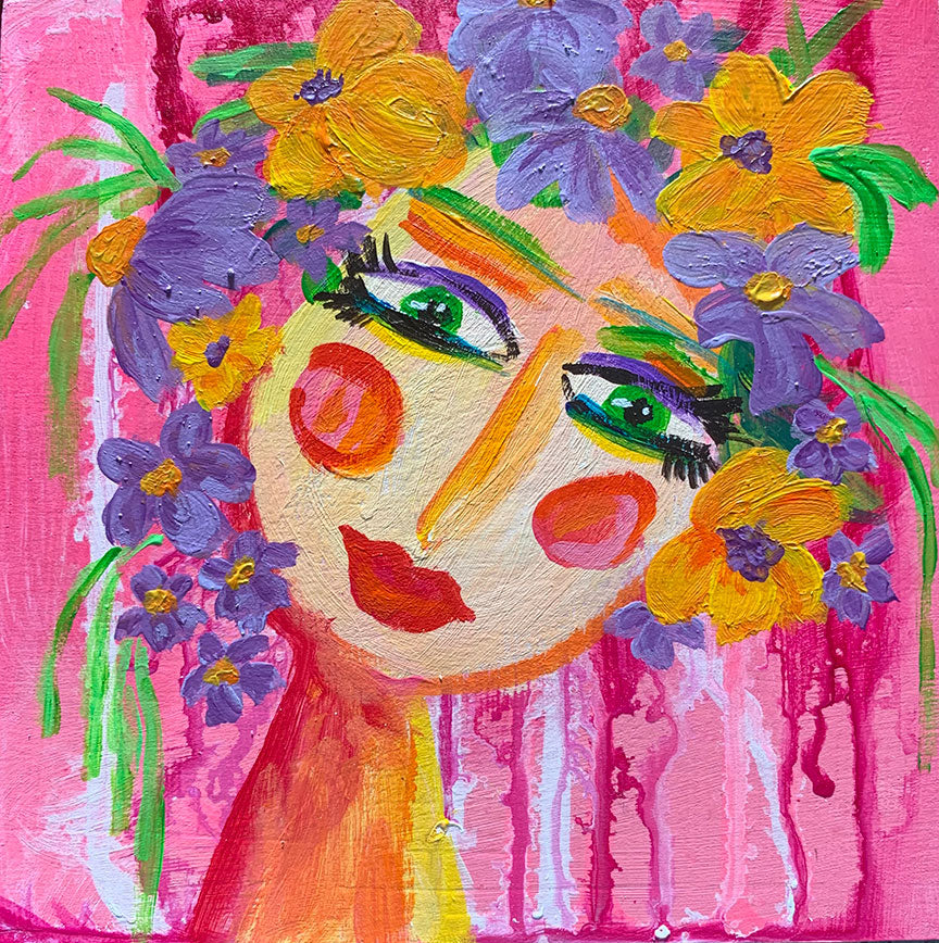 "Flower Girls - Petal 6"" x 6"""